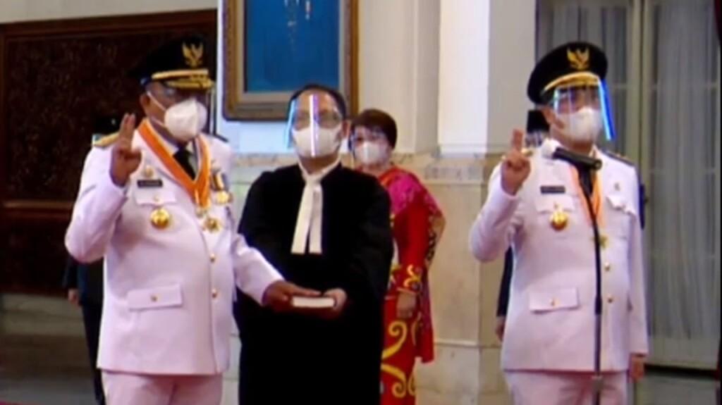 Dilantik Presiden Jokowi, Olly -Steven Resmi Pimpin Sulut Periode Kedua