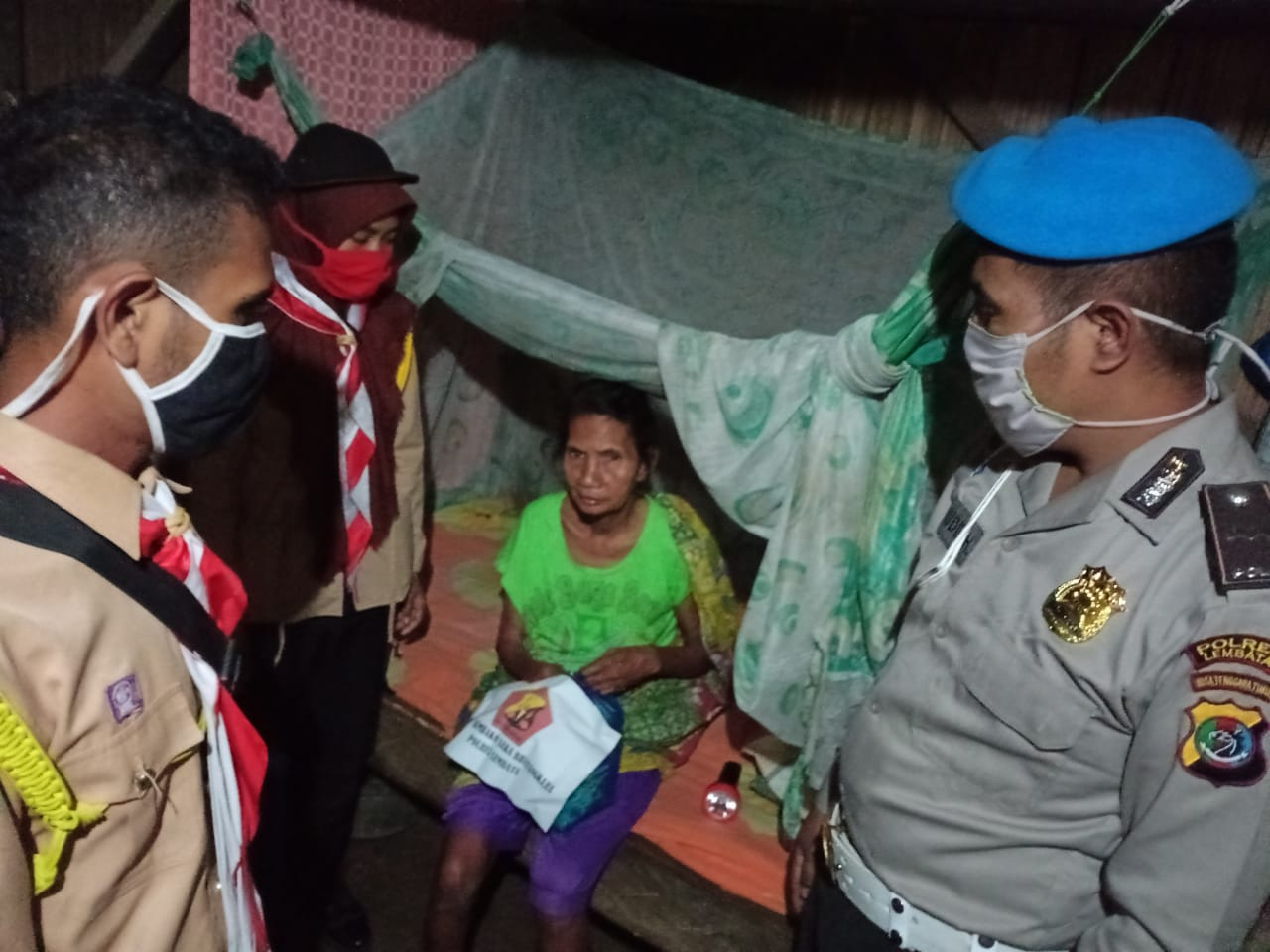 Peduli di Tengah Covid-19, Ini Yang Dilakukan Saka Bhayangkara Polres Kabupaten Lembata