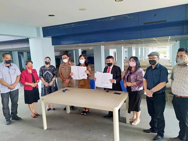 Teken MoU, Dispar Manado Jalin Kerjasama dengan Unima