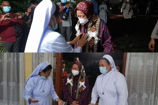 Viral! Risma Nginap Bareng Suster-suster Biara PRR di Larantuka, Warganet: Inilah Indonesia