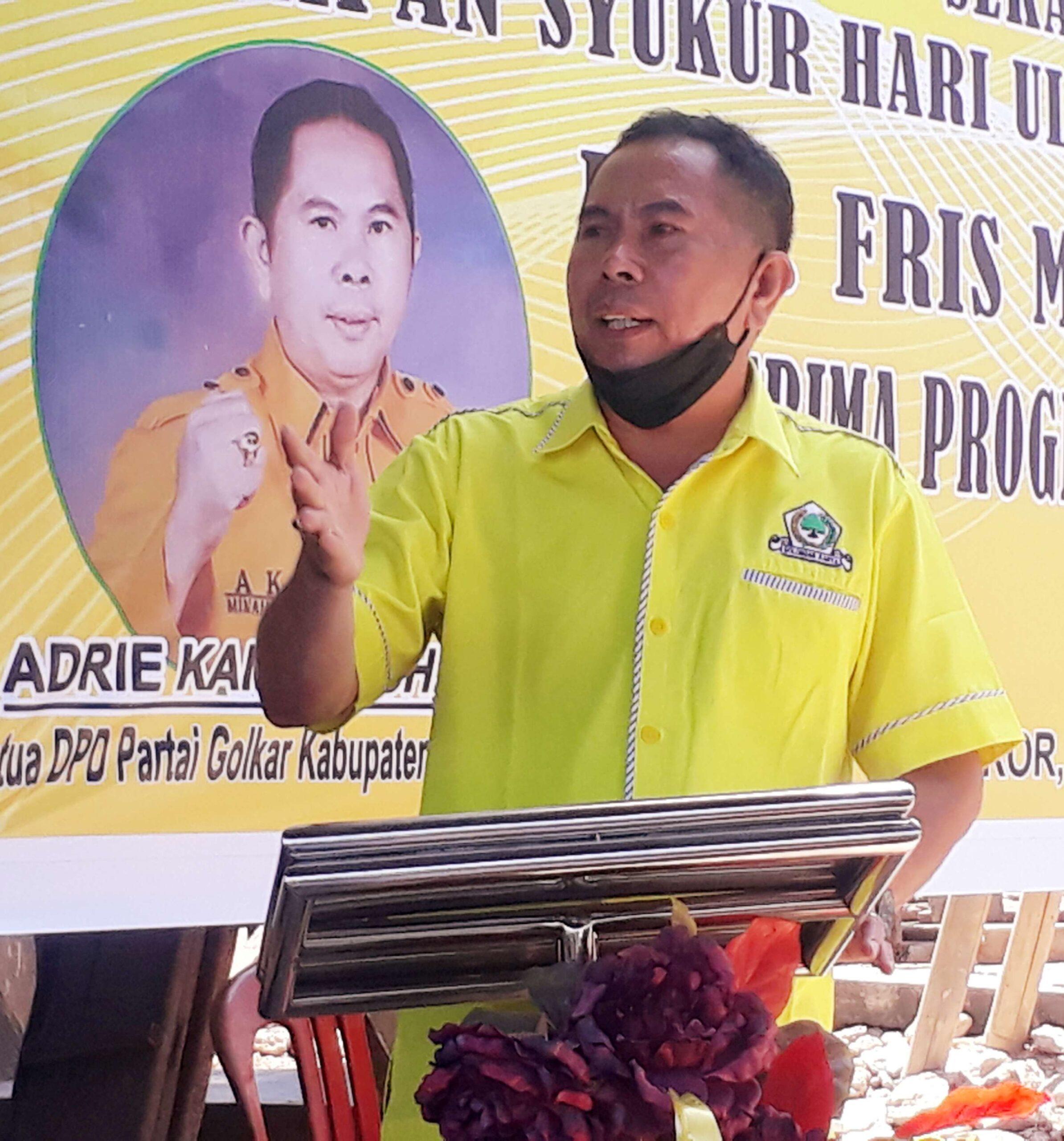 Ketua Golkar Minahasa Adrie Kamasi Doakan Warga Isoman Covid-19