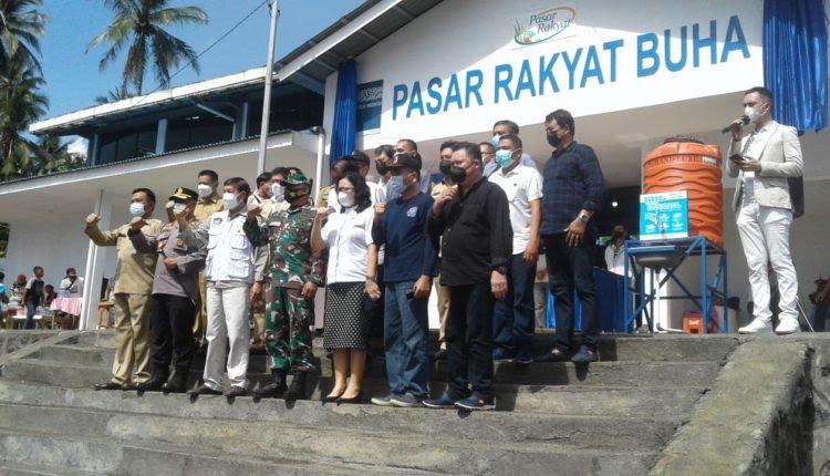 Walikota Vicky Lumentut Resmikan Pasar Rakyat Buha Berfasilitas Lengkap