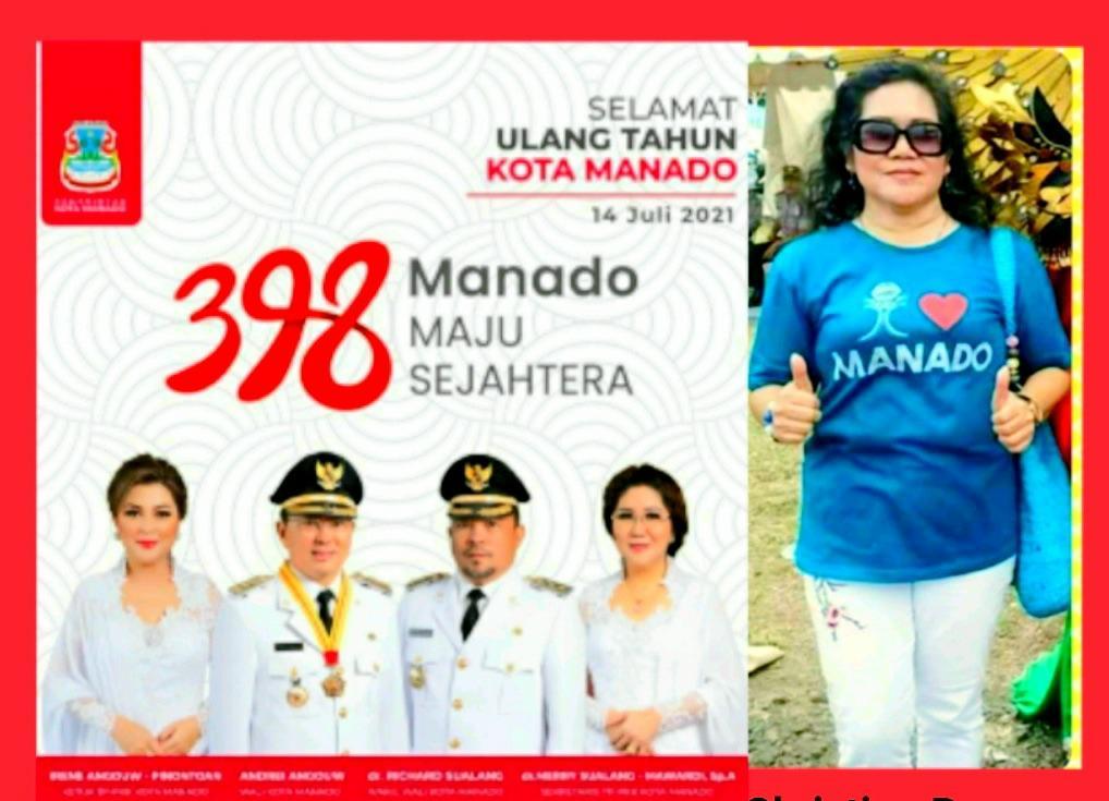 Politisi Partai Golkar Christina Rumayar Ucapkan Selamat HUT ke-398 Kota Manado