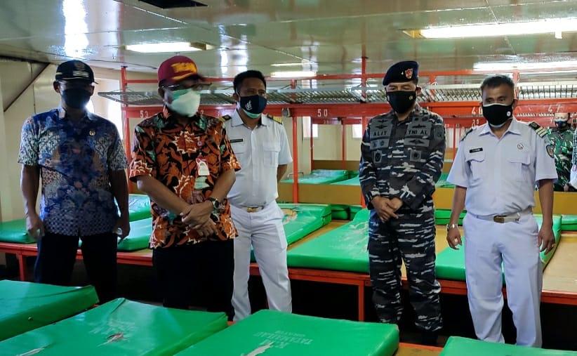 Kapal Pelni 'Disulap' Jadi Tempat Isolasi Pasien Covid-19, Walikota-Wawali Bitung Cek Fasilitas KM Tatamailau