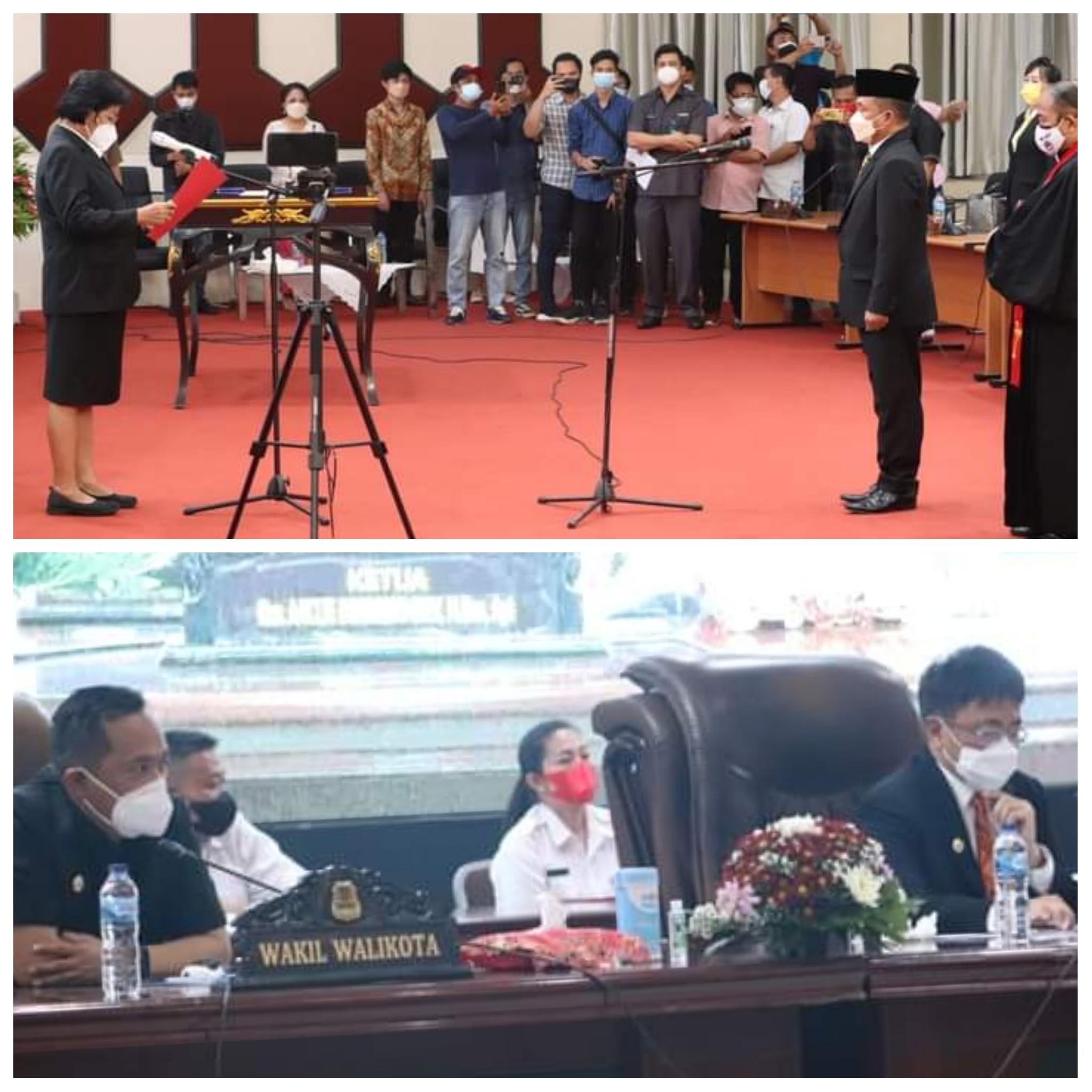 Dolfie Angkouw Resmi Anggota DPRD Manado, Walikota: Dari Wasit Jadi Pemain dan Gol
